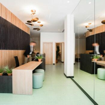 Huguet Green terrazzo floor tiles 100x100x2cm