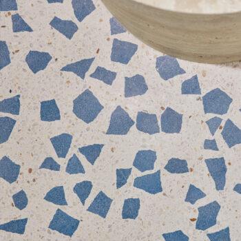 Huguet blue terrazzo detail - Time store - Seoul