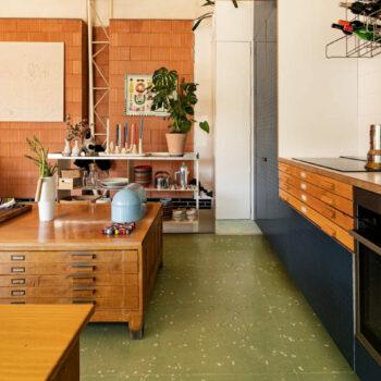 "Huguet ""Sidney green"" 100x100x2cm terrazzo tiles"